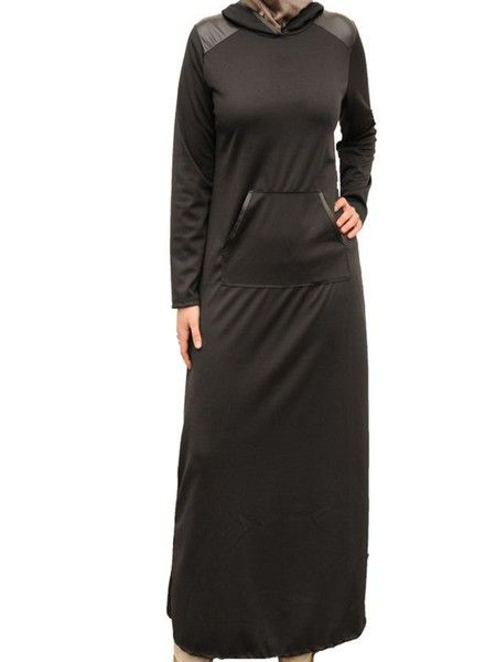 Black Leather Abaya
