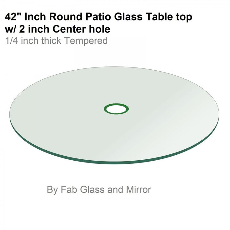 42 Round Tempered Glass Table Top