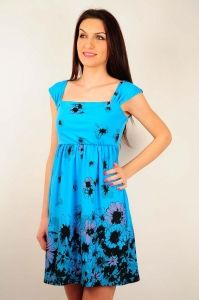 Rochie RVL albastra cu imprimeu floral