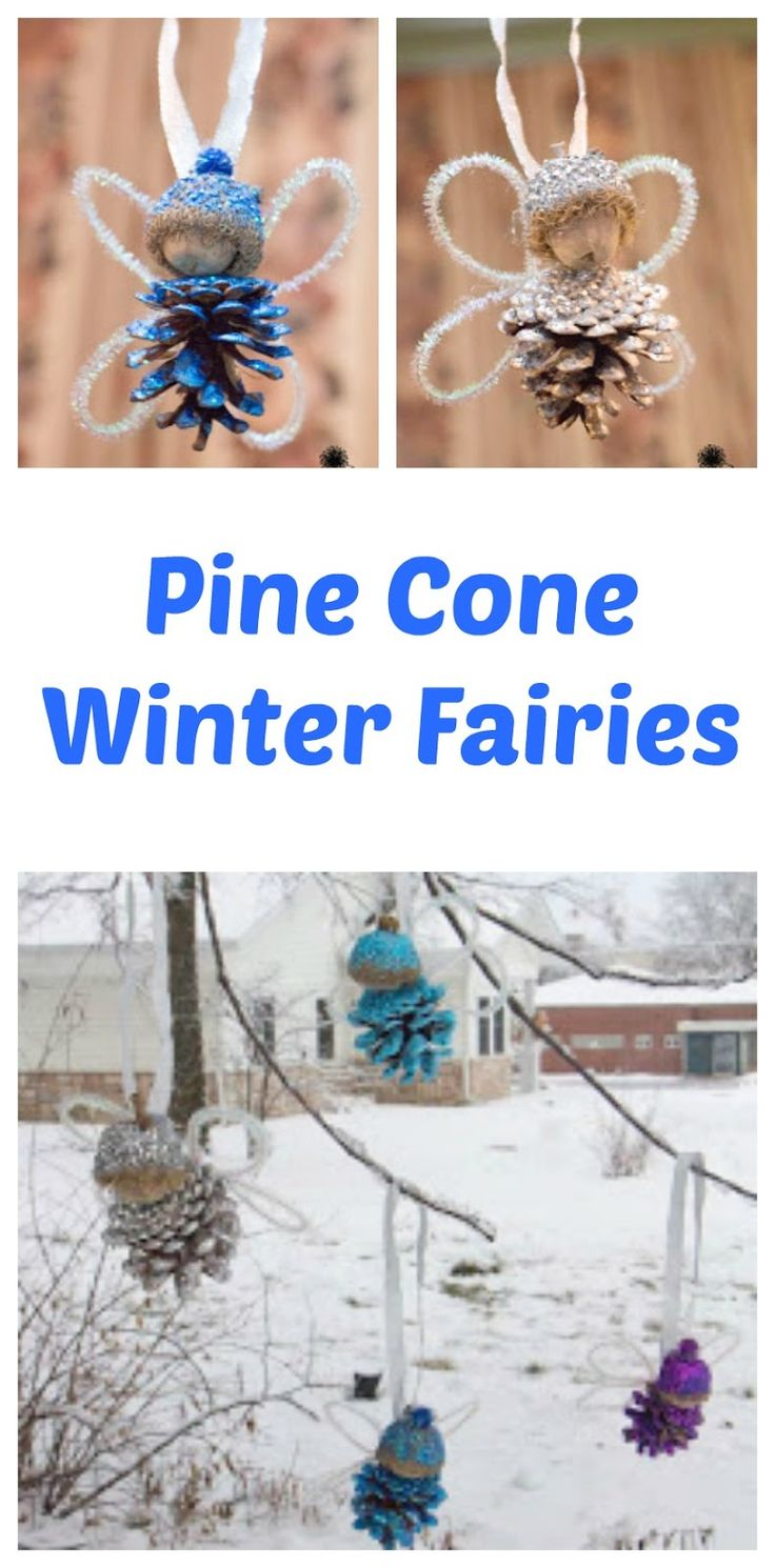 Kids will love transforming pine cones and acorns into gorgeous winter fairies! A great kids craft for icky winter days.