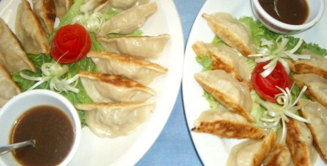 Gyoza for dinner with our family or friends....