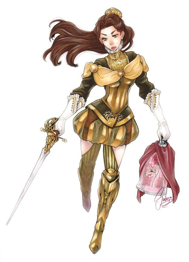 Disney Princesses Re-imagined As Ruthless Avenging Warriors - Belle