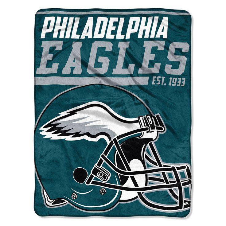 "Philadelphia Eagles The Northwest Company 46"" x 60"" 40-Yard Dash Micro Raschel Blanket"