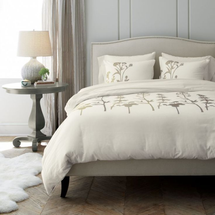 Colette Upholstered King Bed | Crate and Barrel