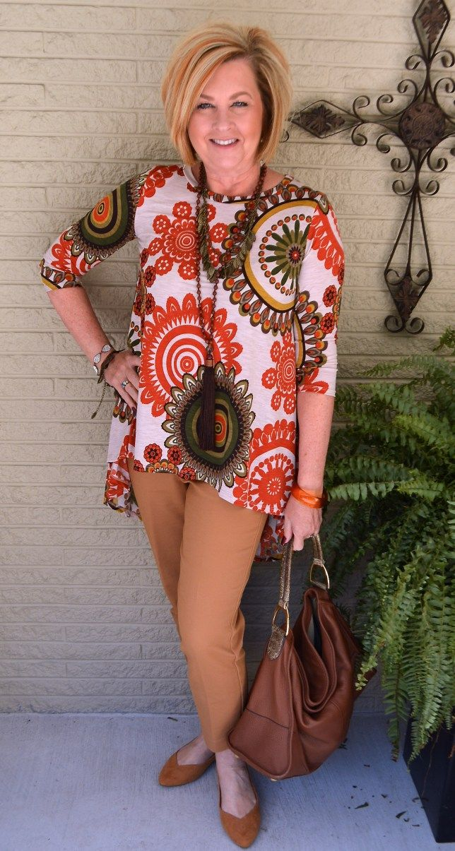 50 IS NOT OLD   HIGH LOW TUNIC   Fall Colors   Camel   Fashion over 40 for the everyday woman