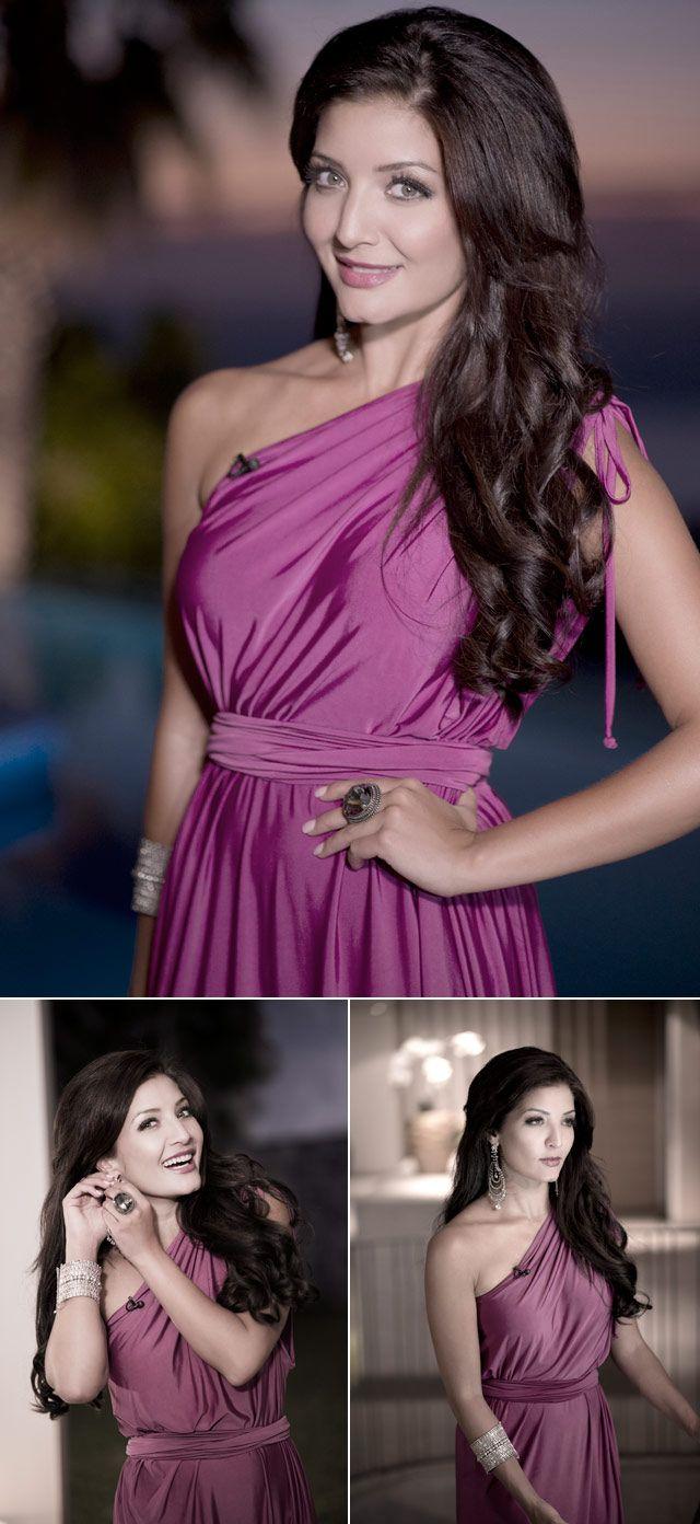 Top Billing presenter Jeannie D in pink dress by Kluk CGDT
