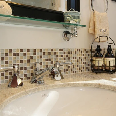 traditional bathroom backsplash. beautiful ideas. Home Design Ideas