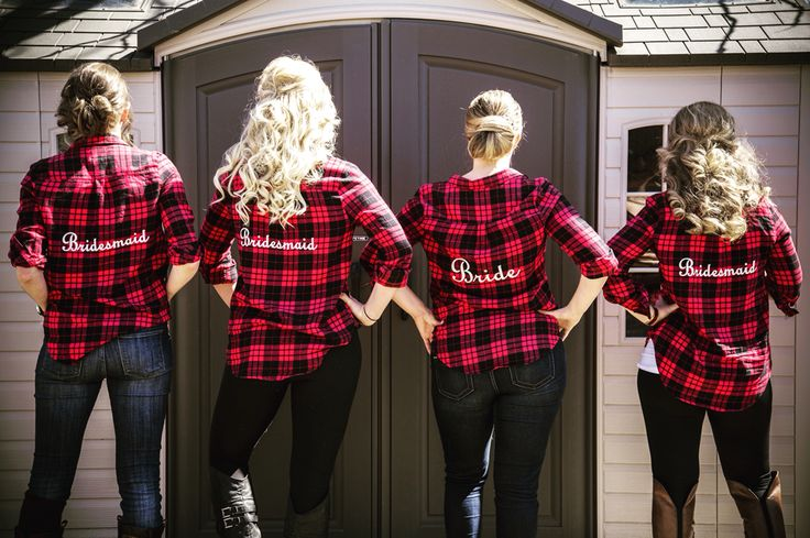 Who needs robes when you can have branded flannel shirts??? By Sandy's Signatures