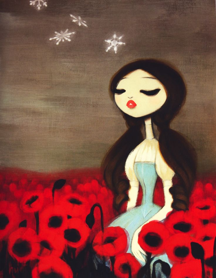 The Wizard of OzSnowfall, Art Drawing, The Artists, Drawing Fashion, Poppies, Krista Huot, Wizards Of Oz, Vintage Rose, Kristahuot