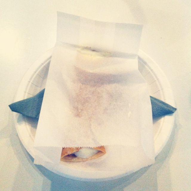 White choco lemon mousse crepe at Dream Hostel, Tampere, on Restaurant Day. #tampereblog