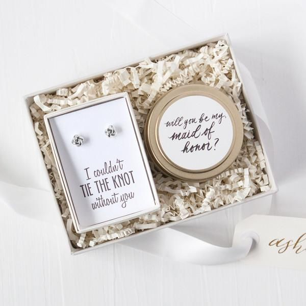 The most beautiful little bridesmaid proposal gift box!  by Foxblossom Co.