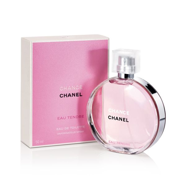 Chanel Chance Eau Tendre $115 -- a nice clean and fresh scent with some grapefruit notes. This is the first Chanel perfume I have liked, they normal at too mature scented for me.