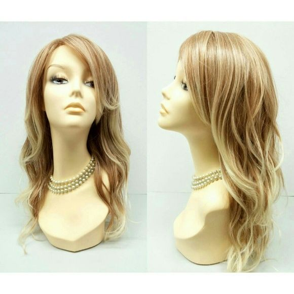 """Mixed blonde beach waves heat resistant wig 18"""" Long wig featuring mixed natural blonde colors and pretty beach waves.?Made with heat resistant synthetic fibers. This wig will retain its style after washing and can be styled with heat.  Color: Mixed Natural Blonde?(#WBGAB27613) Length: 18"""" Circumference: Default at 21"""" with adjustable cap (max 23"""") Materials: Premium heat resistant synthetic fiber  Wig prices are firm. Accessories Hair Accessories"""