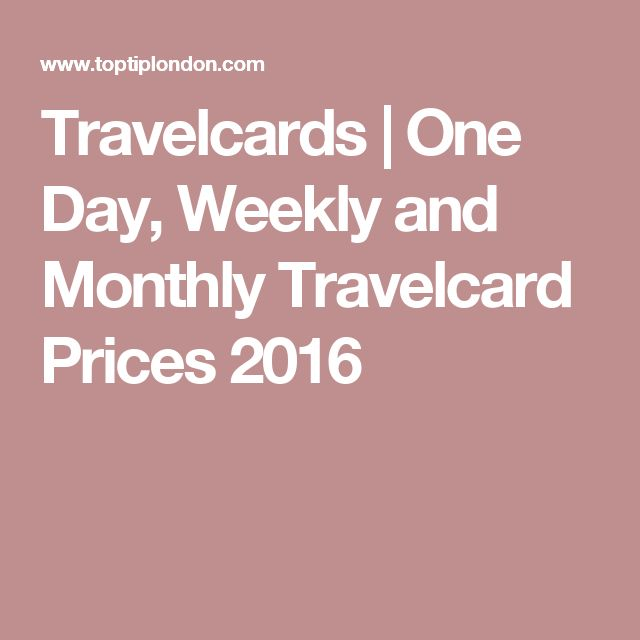 Travelcards | One Day, Weekly and Monthly Travelcard Prices 2016