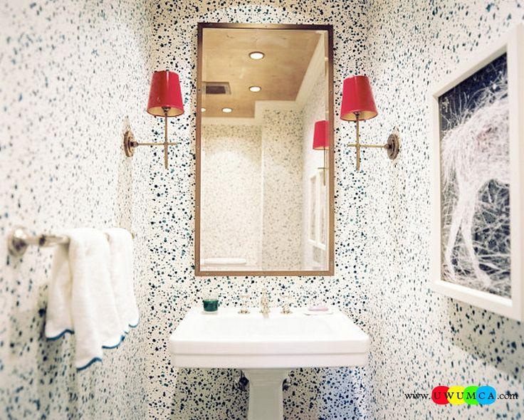 Bathroom:Decorating Modern Summer Bathroom Decor Style Tropical Bath Tubs Ideas Contemporary Bathrooms Interior Minimalist Design Decoration Plans Splatter Wallpaper In A Small Bathroom Cool and Cozy Summer Bathroom Style : Modern Seasonal Decor Ideas