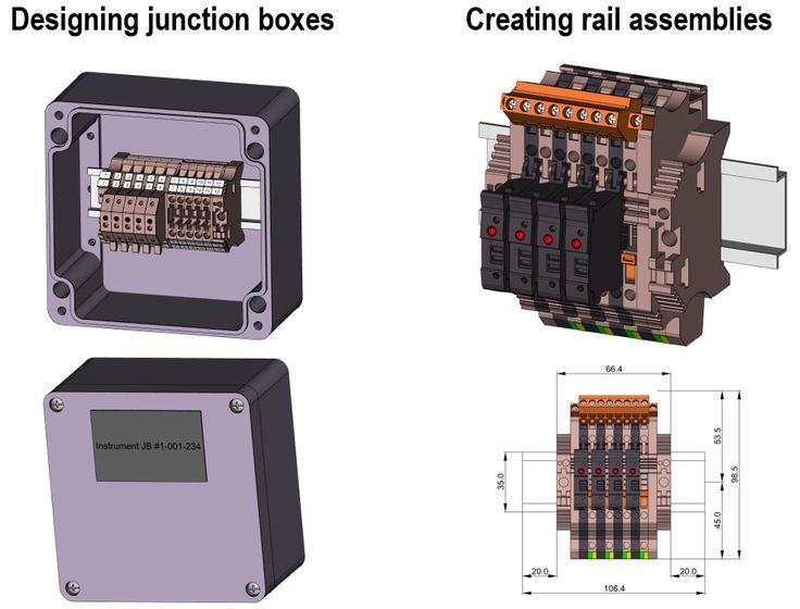 Weidmuller Configurator: Create rails and junction boxes