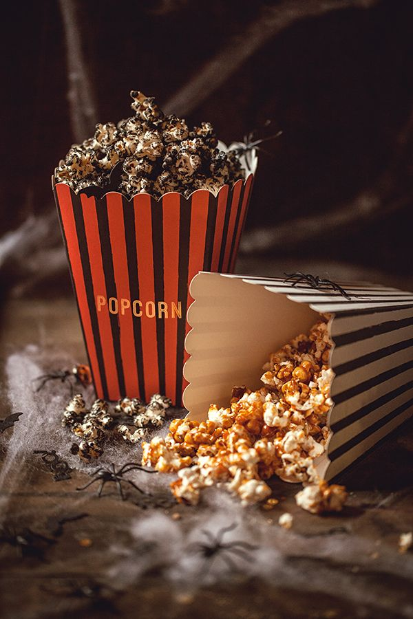 Popcorn d'Halloween avec Holly Party {+ concours} #halloween #food #popcorn #caramel #blacksesame