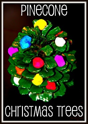 Pinecone Christmas Tree Craft