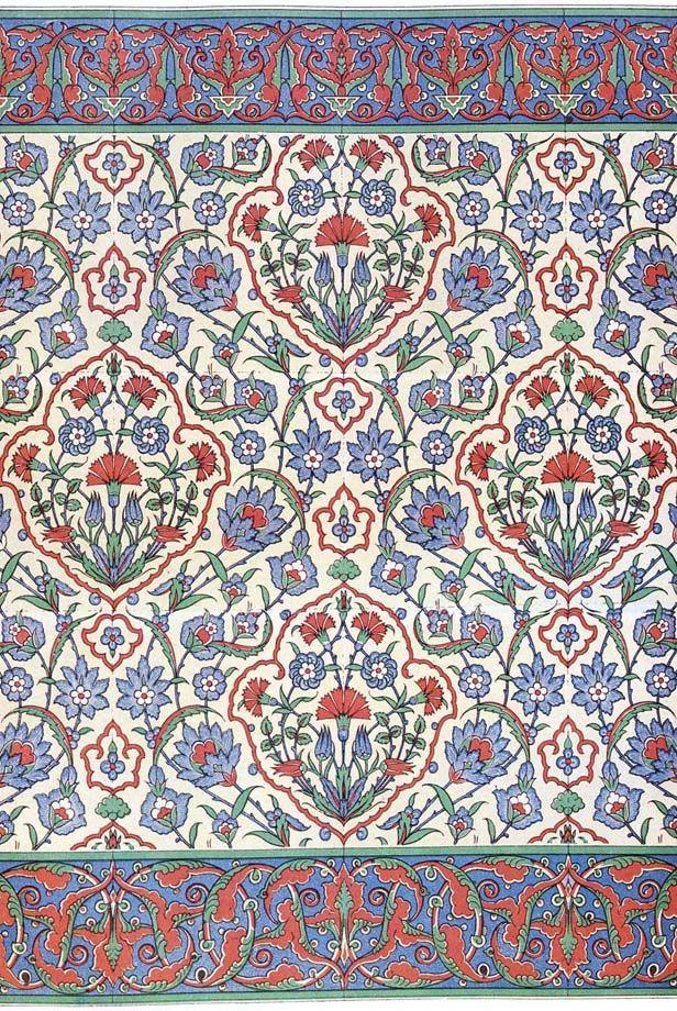 Islamic wall tiling decoration, 16th century.