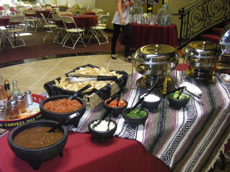 Taco Bar Setup Mexican Wedding Buffet Ideas Pinterest