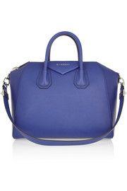 GivenchyMedium Antigona bag in bright-blue leather