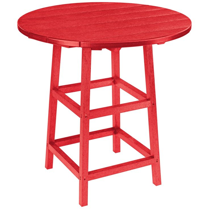Generations Red Round Outdoor Pub Table - Style # 8T752
