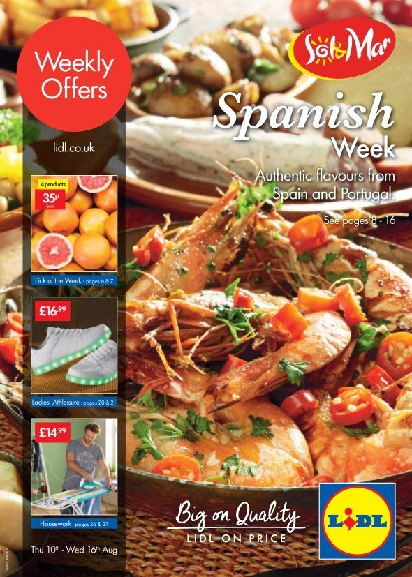 Lidl Offers Leaflet 10th-16th August 2017: Spanish Week, Ladies' Athleisure, Housework and more special offers for You in this Lidl Catalogue.
