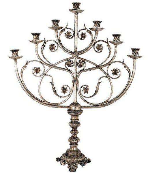 Lopez de Hierro Granada - Candelabro judio plata
