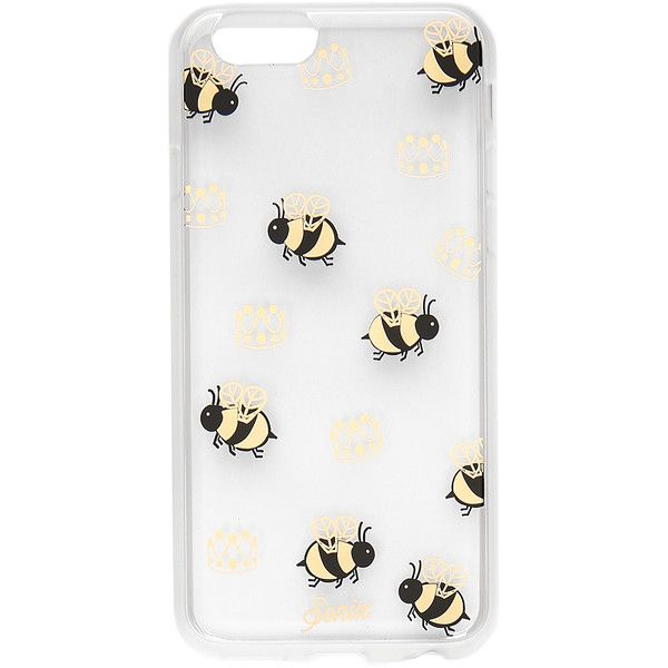 Sonix Queen Bee iPhone 6 / 6s Case (47 AUD) ❤ liked on Polyvore featuring accessories, tech accessories, cases, phone, iphone cover case, transparent iphone case, metallic iphone case, iphone case and apple iphone cases