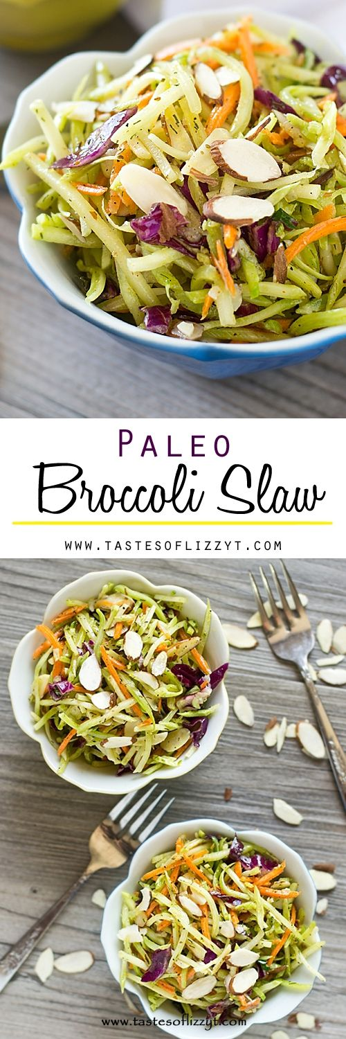 Paleo Broccoli Slaw Recipe - Tastes of Lizzy T