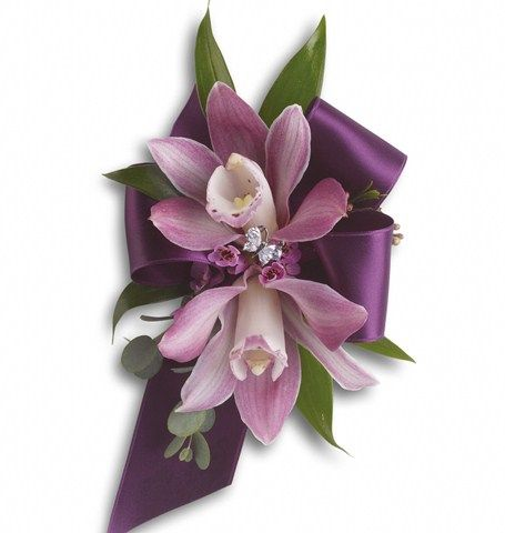 No Gravity Corsage - Pink - Purple Orchid Corsage | Wholesale Orchid Corsages | Buy Orchid Corsages | Discount Orchid Corsage at BunchesDirect
