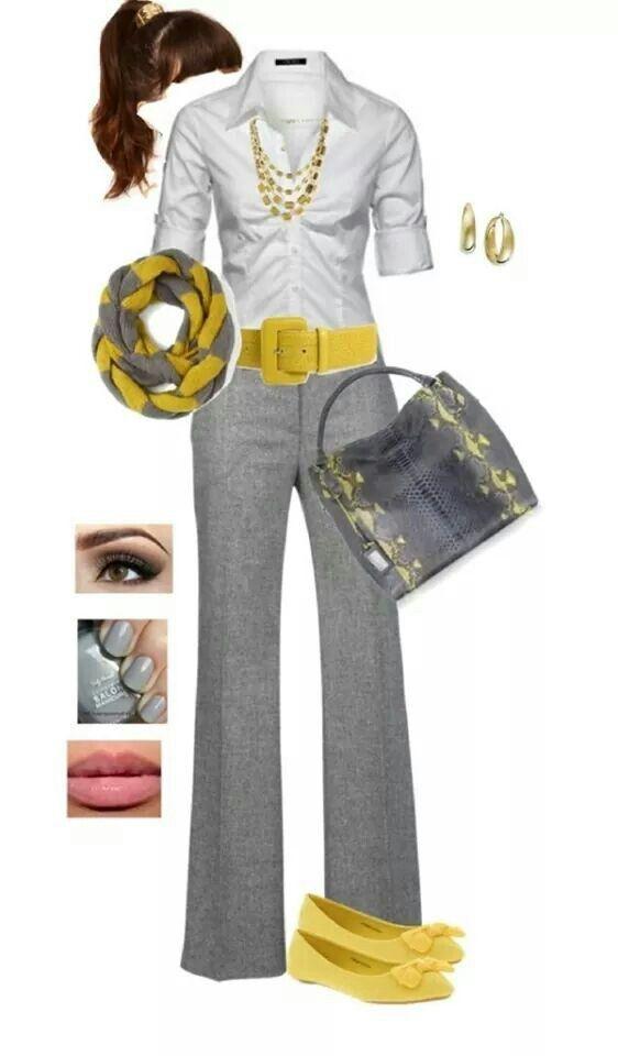 Fashion, moda, estilo, gris y amarillo