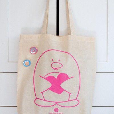 penguin tote bag by queeniescards.com