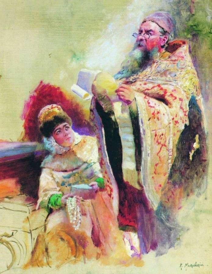 Священник и боярыня - Маковский Константин Егорович