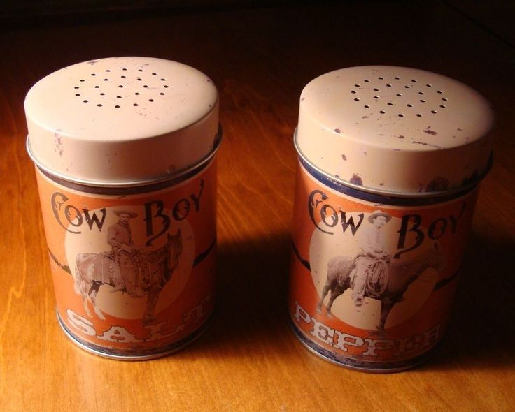 BIG Rustic Country Western Horse Cowboy Salt & Pepper Shaker Ranch Kitchen Decor