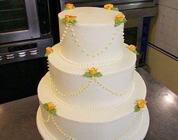 Lemon-Raspberry Wedding Cake This reminds me of your sister's wedding cake which was AMAZING. Would it be difficult to do something like that without making it a wedding cake? Maybe a sheet cake or something?