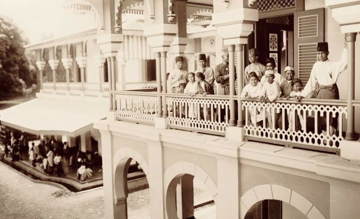 The young nobleman in the Maimoon Palace, Medan (circa 1920's)