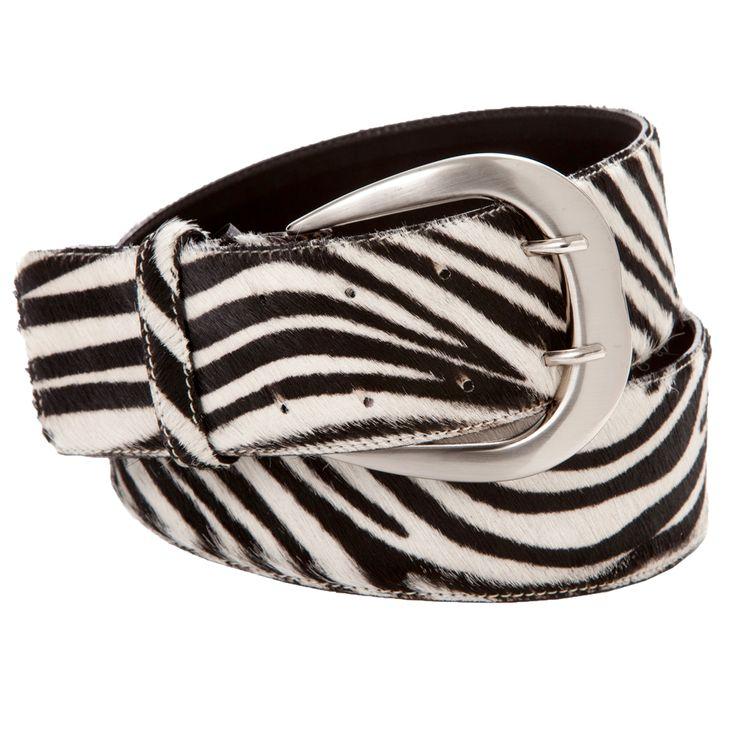 Bobbi zebra - Deze lederen riem met zebra print van 6 cm breed is de perfecte accessoire om je outfit af te maken.