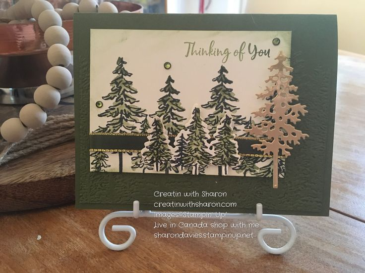 In The Pines in 2020 Christmas cards handmade, Stampin