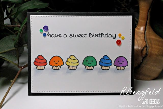 Rachel's Card Corner: Sweet Birthday Wishes - Lawn Fawn, Baked with Love
