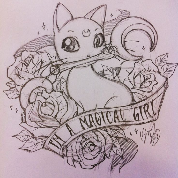 comiccharm:  Sailor Moon tattoo flash, just cuz!