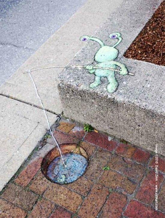 Best Chalk Art Images On Pinterest D Chalk Art D Street - David zinns 3d chalk art adorably creative