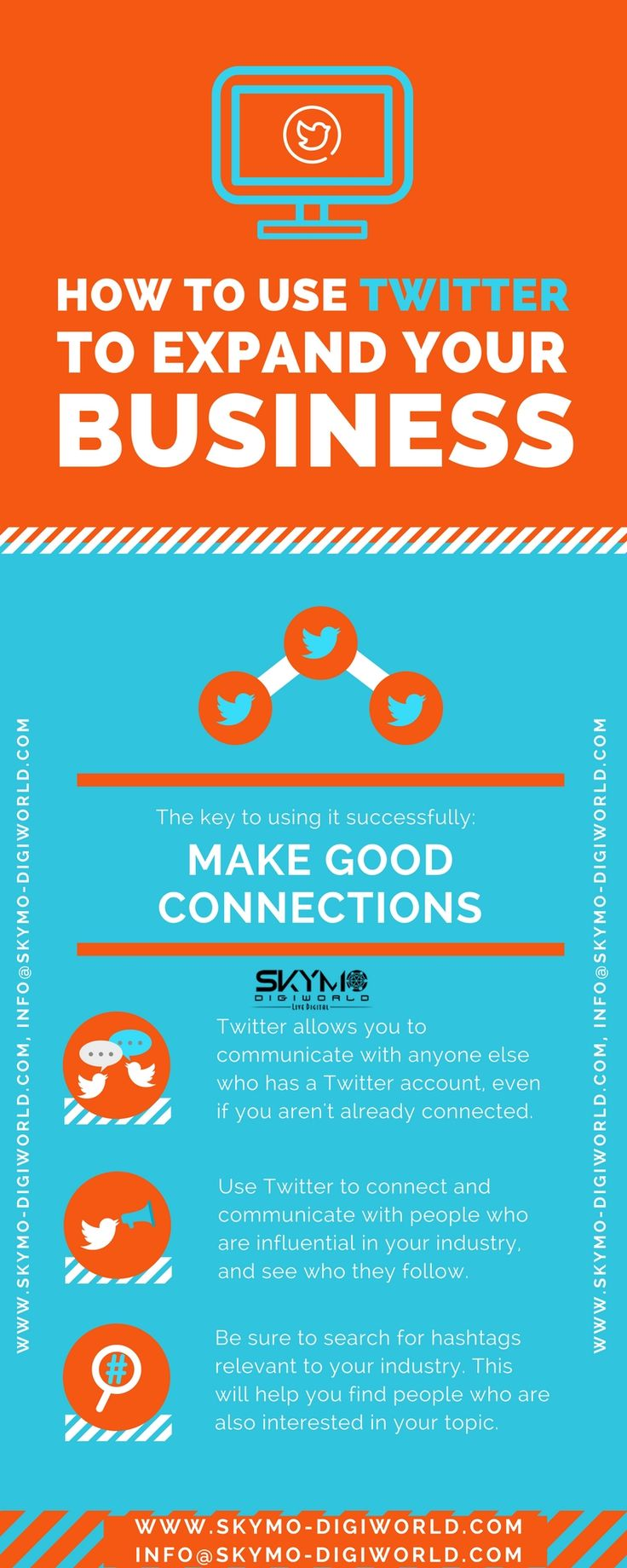 How to use Twitter to expand your Business? Here,we at Skymo Digiworld - #Best #SEO #company #in #Pune , sharing some tips regarding Twitter and #Social #Media #Marketing.For more details please visit-http://www.skymo-digiworld.com/social-media-marketing-services-in-pune.html
