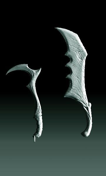 ZBrush Orcish Weapons