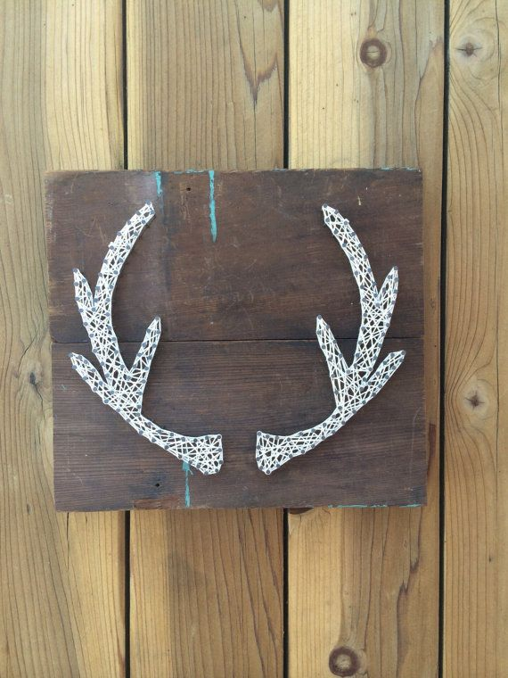 Nail and String Art Antlers by Walker + Cole <3 #walkerandcole