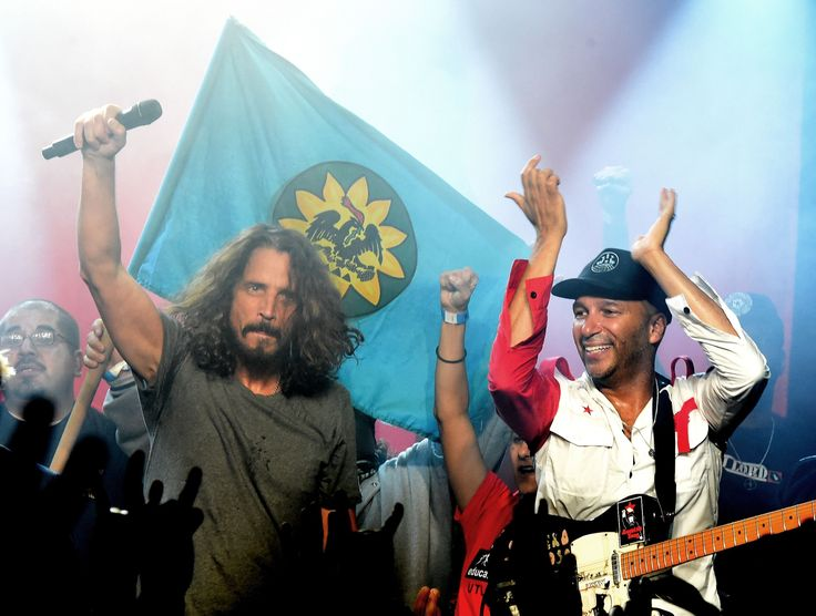 Audioslave Reunite for 'Celebration of Resistance' at Prophets of Rage's 'Anti Inaugural Ball' in Los Angeles  It would appear that even an 11 years hiatus couldn't put rust on Audioslave's Tom Morello Chris Cornell Tim Commerford and Brad Wilk as the band reunited with a flawless three-song set on Friday night for the Anti Inaugural Ball in Los Angeles.