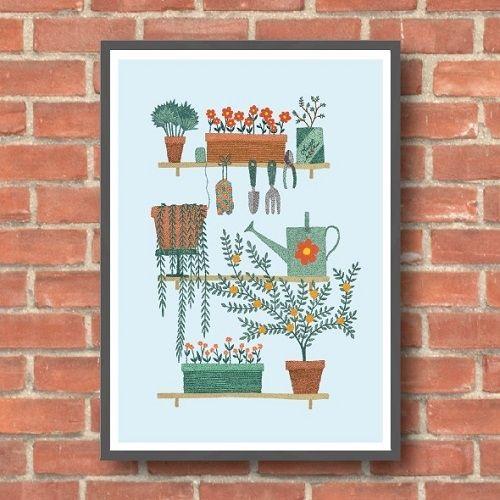 Holly Maguire - Garden Shelves, giclee print