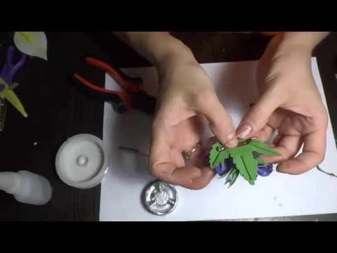 Как крепить брошь на готовое изделие из фоамирана - YouTube