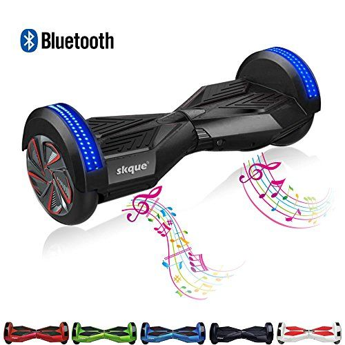 """Balancing Wheel, Skque® 8"""" Two Wheel Smart Self Balancing Electric Scooter with Bluetooth Speaker and Front LED Lights with LG/Samsung/Sanyang/Panasonic 44000mAh battery pack"""