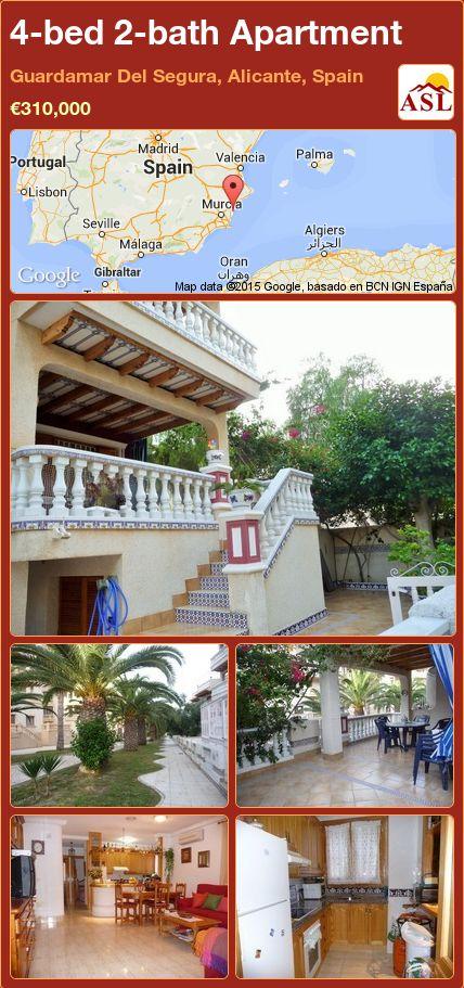 4-bed 2-bath Apartment in Guardamar Del Segura, Alicante, Spain ►€310,000 #PropertyForSaleInSpain